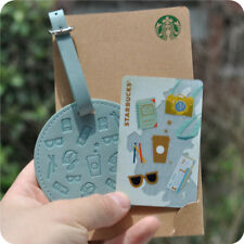 CS1630 2016 China Starbucks coffee Summer Travel MSR 1pc and leather luggage tag