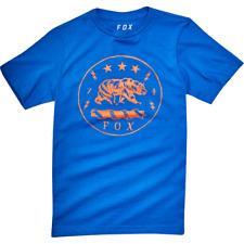 Fox Racing revealer Tee Shirt Tamaño Mediano Azul Niños Precio de venta Free UK Post