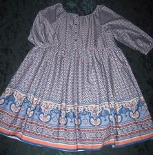 MAYORAL Scoop-Necked Print Dress NWT Girls 14