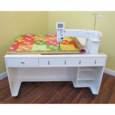 Arrow Model 1311 QUILTY Long Arm Sewing Cabinet Crisp White