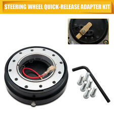 Schwarz Lenkrad Schnellverschluss Steering Wheel Quick Release Snap Off Boss Kit