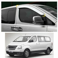 Sun Chrome Side Window Visor Vent Guards Rain for Hyundai Starex iMax H1