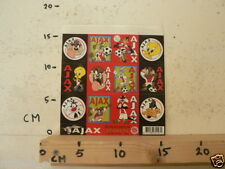 STICKERS SHEET AJAX LOONEY TUNES 2000 SHEET 12 STICKERS VOETBAL SOCCER LARGE 15
