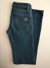 BCBG Max Azria womens jeans Agnes embroided poockets size 26 washed indigo B-4