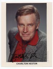 CHARLTON HESTON 1923-2008 Nice signed 10x8 photo