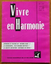Vivre en Harmonie N°259 de 1975 ✤ Dextreit ✤ Retour d'âge / Radioscopie...