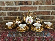 Vintage Bavaria  Coffee Set gold plated and hand made (4 persons)