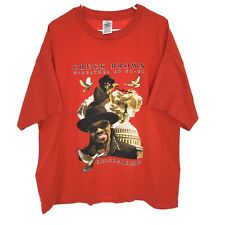 CHUCK BROWN T-shirt 2XL Red 100% Cotton Godfather of Go - Go