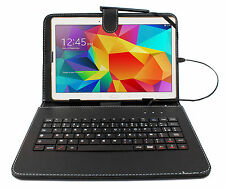 "FRENCH AZERTY Black Case / Cover With Keyboard For Samsung Galaxy S2 9.7"" Tablet"