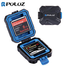 Puluz 9 in 1 Memory Card Protective Storage Case Box For 2XQD+2CF+2TF+3SD Card