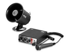 Pyle PSRNTK25 Siren Horn Speaker System with Handheld PA Microphone Megaphone