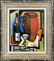 MICHEL DE ALVIS (né en 1933) PEINTURE POST-CUBISTE NATURE MORTE 1956 (19)
