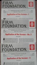 FIRM FOUNDATION ~ Application of the Sermon ~ Jess Hall  Church Of Christ 3 Vols