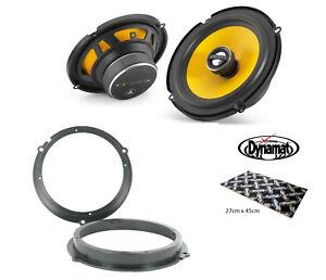 """Ford Fiesta Mk7 ST180 ST200 6.5"""" Rear speaker upgrade kit from JL Audio Dynamat"""