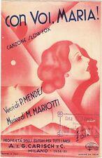 "FUTURISMO Italiano AVANT-GARDE Cover ""Con Voi, Maria!"" Music Sheet ITALY 1934"
