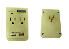 2 Outlet Adapter with 2 USB Ports Plus light emitting Protected Light