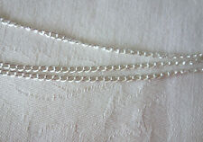 2 Metre Length Silver Colour Plated 2mm Curb Chain #0380 Jewellery Making Craft