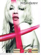 PUBLICITE ADVERTISING 065  2008  YVES SAINT LAURENT   rouge à lèvres KATE MOSS