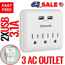 USB Outlet Plug Wall Tap Socket Electrical Charger Surge Protector Adapter