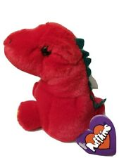 """Puffkins by SWIBCO """"DRAKE"""" the red Dinosaur w/ tags 5"""" plush"""