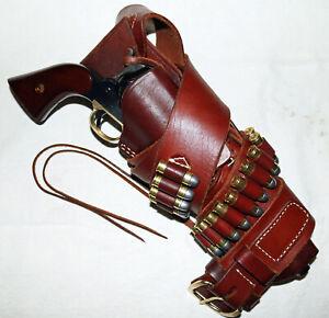 """AAS-70 Cowboy Rig for .45 1873 Colt SAA 7-1/2"""" w/Large Drop Belt 38""""-43"""""""