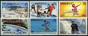 Anguilla 1980 SG##389-394 Winter Olympic Games MH Set #D87376