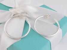 Tiffany & Co Silver Large Hoop Earrings Box Included