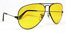 Ray-Ban USA NOS Vintage 1980s B&L Aviator Ambermatic Black Chrome New Sunglasses