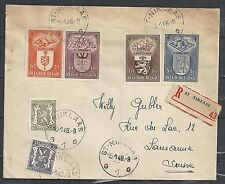 Belgium 1948 R-cover St.Niklaas to Lausanne