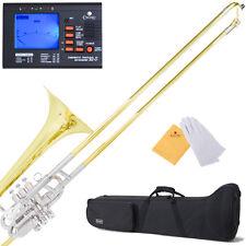 Mendini Super - Bone Bb Slide Trombone w/ Monel Valves +Mouthpiece+Case+$39Tuner