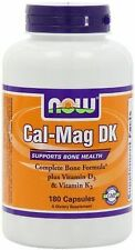 NOW FOODS CAL-MAG DK 180 CAPSULES COMPLETE BONE FORMULA BRAND NEW FREE SHIPPING