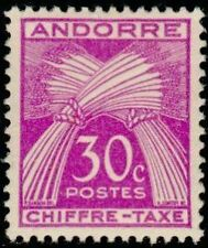 """ANDORRE FRANCAIS STAMP TIMBRE TAXE N°22 """" CHIFFRE-TAXE 30c. """" NEUF xx TTB"""