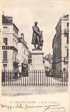 CHALON-SUR-SAONE 33 statue de Niepce timbre rouge droit de l'homme 10 centimes