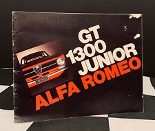 1971 ALFA ROMEO GT 1300 JUNIOR ORIGINAL SALES BROCHURE PROSPEKT ENGLISH GIULIA