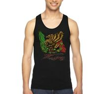 Men's Mexico Eagle La Bandera Mexican Pride Flag Cinco De Mayo Gift Tank-Top