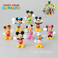 8X Mickey Minnie Mouse Clubhouse Donald Duck Cake Toppers Figures 7CM Girl Gift