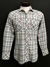 """VINTAGE """"PENNEY'S"""" MENS RANCH CRAFT DAN RIVER FABRIC SHIRT MADE IN USA, S"""