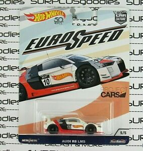 Hot Wheels 2017 Car Culture Euro Speed White/Red/Black AUDI R8 LMS w/Real Riders