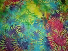 Hoffman Batik Bali Chops Sunflower 884-130-Multi Batik Cotton Fabric BTY
