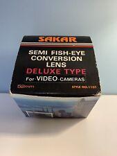SAKAR SEMI FISH-EYE MACRO CONVERSION LENS DELUXE FOR VIDEO/35MM SLR CAMERA 52MM