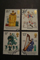GB 1976 Commemorative Stamps~Culture~Fine Used Set~ex fdc~UK Seller