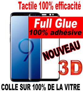 Vitre verre trempé film protection écran SAMSUNG GALAXY S9/8 + PLUS 3D FULL GLUE