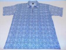 vintage RETRO adult XL short sleeve shirt w/ CRAZY design  unique zip  FREE SHIP