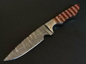 "9.5"" INCH CUSTOM HAND MADE DAMASCUS STEEL BLADE HUNTING KNIFE CF-6533"