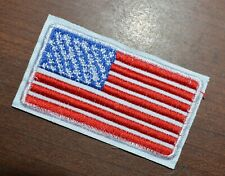 New listing 2x Usa American Flag Embroidered Iron- On Patch ≈7*3.8cm