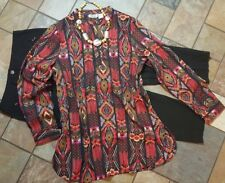 women's clothing lot outfit sz 10 pants, lg blouse, necklace, Very nice!