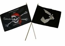 "12x18 12""x18"" Wholesale Combo Pirate Surrender Booty & Thomas Tew Stick Flag"
