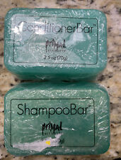 Primal Elements Shampoo Conditioner Set 2.5 oz Bar Rosemary Mint Eco Camping