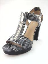 NWOB $168 MICHAEL KORS Python Snake Zip Sexy Chunky Heels Sandals US 9.5 EU 40.5