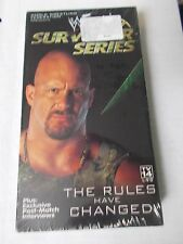 WWF Survivor Series 2000 VHS, WWE, NEW, Very Rare! Stone Cold, Rock, Triple H